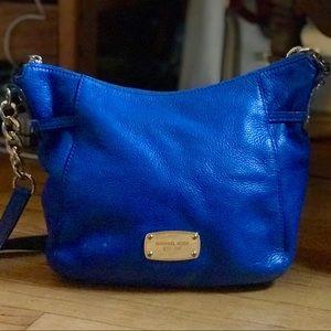 Beautiful Blue Michael Kors Leather Crossbody!